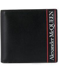 Alexander McQueen Portemonnee Met Logoprint - Zwart