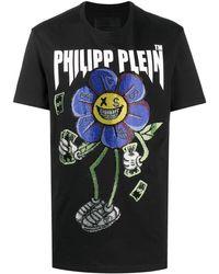 Philipp Plein ビジュートリム Tシャツ - ブラック