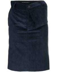 Y. Project - Asymmetric Draped Waist Skirt - Lyst