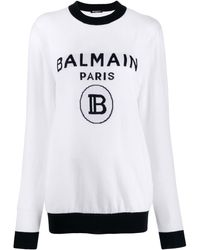 Balmain - ロゴ セーター - Lyst