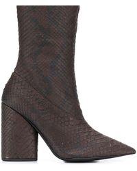 Yeezy Block Heel Ankle Boots - Bruin