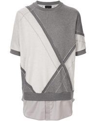 3.1 Phillip Lim Diamond Check Sweatshirt - Grey