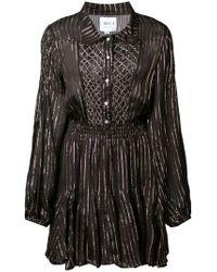 MISA - Lurex Stripe Mini Dress - Lyst