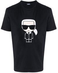Karl Lagerfeld Ikonik Tシャツ - ブラック