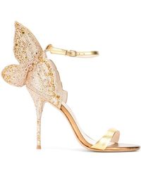 Sophia Webster Butterfly Embellished Sandals - Metallic