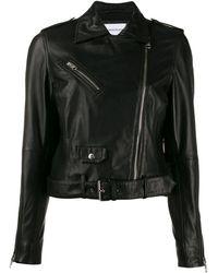 Calvin Klein レザー ライダースジャケット - マルチカラー