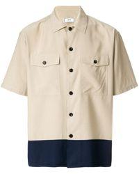 AMI Camp Collar Chest Pockets Short Sleeves Shirt - Naturel