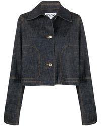 Loewe Джинсовая Куртка Свободного Кроя - Синий
