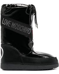 Love Moschino ラインストーン スノーブーツ - ブラック