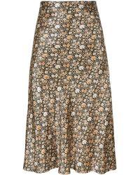 Nili Lotan Floral-print Midi Skirt - Multicolour