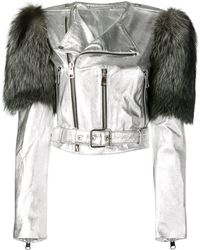 Manokhi - Fox Fur Shoulder Jacket - Lyst