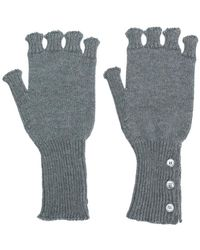 Thom Browne - Fingerless Wool Gloves - Lyst