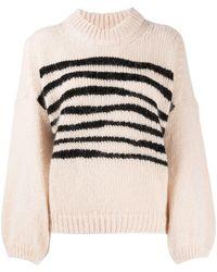 Ba&sh ストライプディテール セーター - ピンク