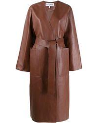 Loewe Длинное Пальто - Коричневый