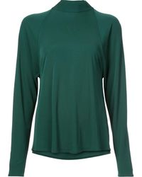 Rosetta Getty - Draped Blouse - Lyst