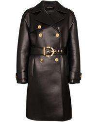 Versace Тренч С Поясом - Черный