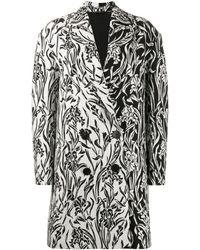 Givenchy - Двубортное Жаккардовое Пальто С Цветочным Узором - Lyst