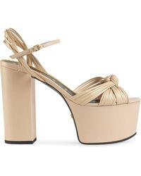 Gucci Platform Sandals - Multicolor