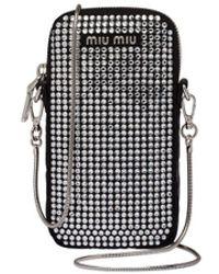 Miu Miu Starlight Phone Case - Black