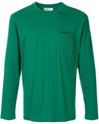 Affix ロゴプリント ロングtシャツ - グリーン