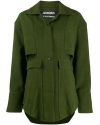 Jacquemus オーバーサイズ ミリタリージャケット - グリーン
