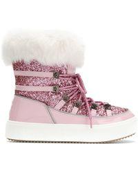 Chiara Ferragni Декорированные Ботинки На Шнуровке - Розовый