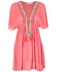 Brigitte Bardot - Embroidered Beach Dress - Lyst
