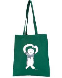 Societe Anonyme Logo Print Tote - Green