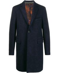 Etro Single-breasted coat - Blu