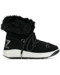EA7 Lace-up Boots - Black