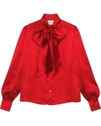 Gucci Блузка С Бантом - Красный