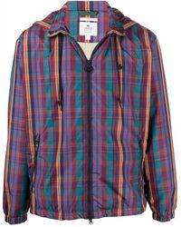 Lacoste L!ive Plaid-check Jacket - Blue