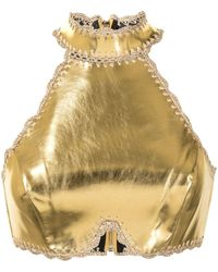 Alice McCALL Cool Cat Metallic Cropped Top