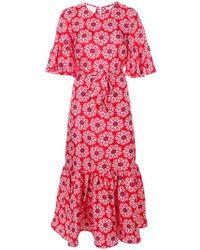 La DoubleJ Платье 'curly Swing' С Узором - Красный