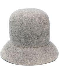 Nina Ricci Sombrero de ala angulada - Gris