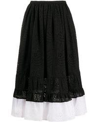 N°21 - バイカラーエンブロイダリースカート - Lyst