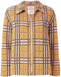 Coohem Chaqueta de tweed con cremallera - Multicolor
