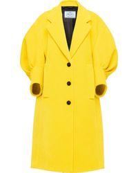Prada Mantel mit Puffärmeln - Gelb