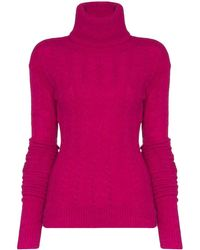 Jacquemus Long-sleeved Knitted Sweater - Pink