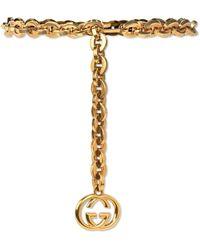 Gucci - GG Chain-link Belt - Lyst