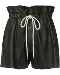 Bassike Ruffle High Waist Shorts - Black