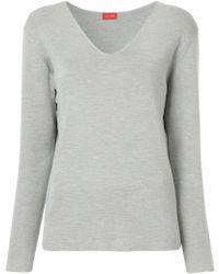 DES PRÉS - V-neck Pullover - Lyst