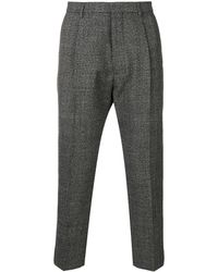 AMI High-waisted Pleated Trousers - Grey