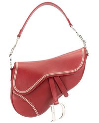 Dior Sac porté épaule Saddle - Rouge