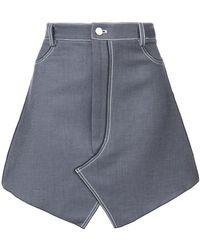 Dion Lee | Stitch Denim Mini Skirt | Lyst