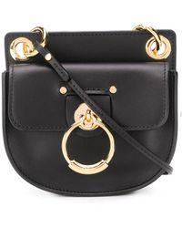 Chloé Mini Tess Leather Bag - Schwarz