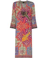 Etro Paisley Tunic Dress - レッド