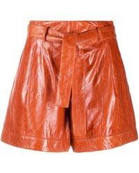 DROMe Shorts con cinturón - Marrón