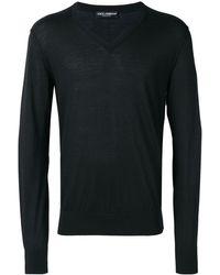 Dolce & Gabbana Vネック セーター - ブラック