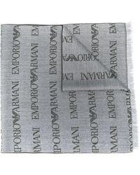 Emporio Armani ロゴ スカーフ - グレー